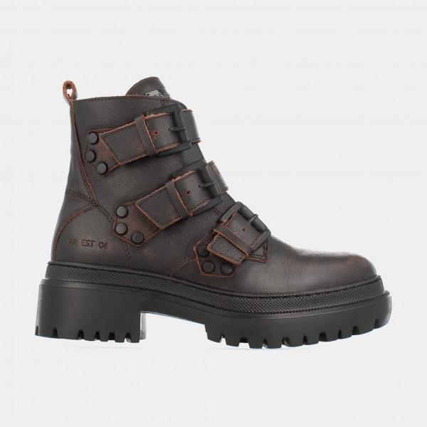Bruine Biker Boots | Red-Rag 74350