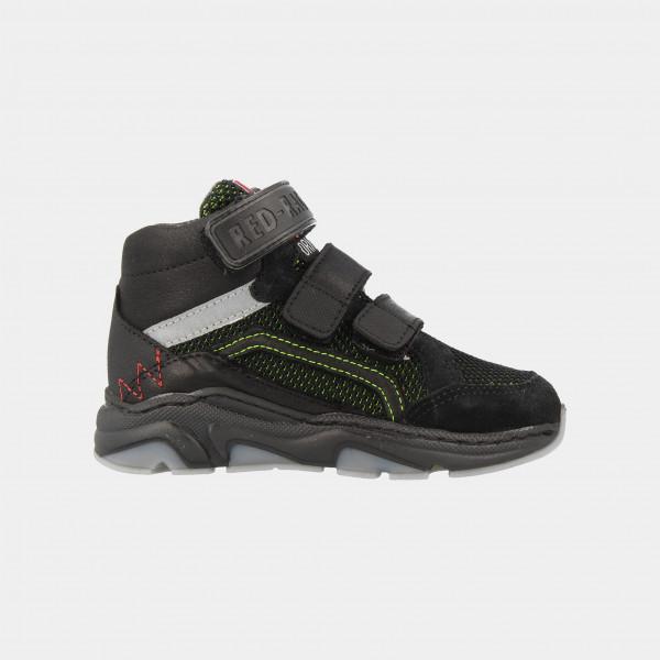 Hoge Zwarte Sneakers Klittenband | Red-Rag 13189