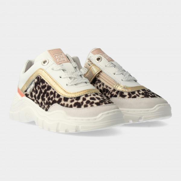 Witte Sneakers Met Leopard Print | Red-Rag 13010