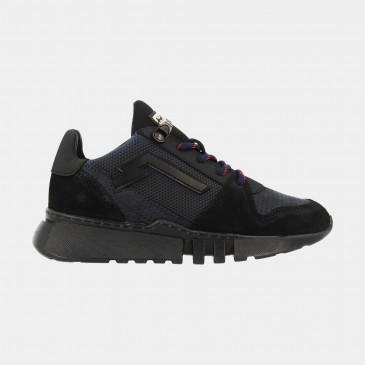 Zwart Blauwe Sneakers Laag | Red-Rag 13215