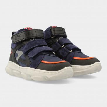 Hoge Blauwe Sneakers Met Klittenband | Red-Rag 13507