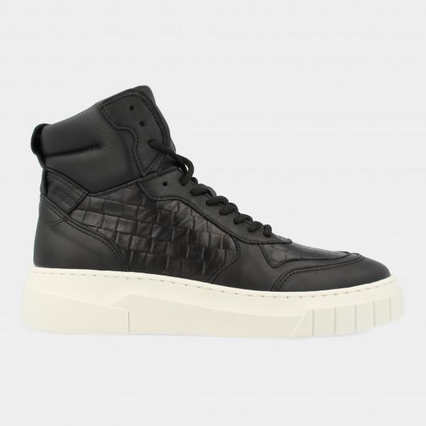 Hoge Zwarte Sneakers   Red-Rag 71248