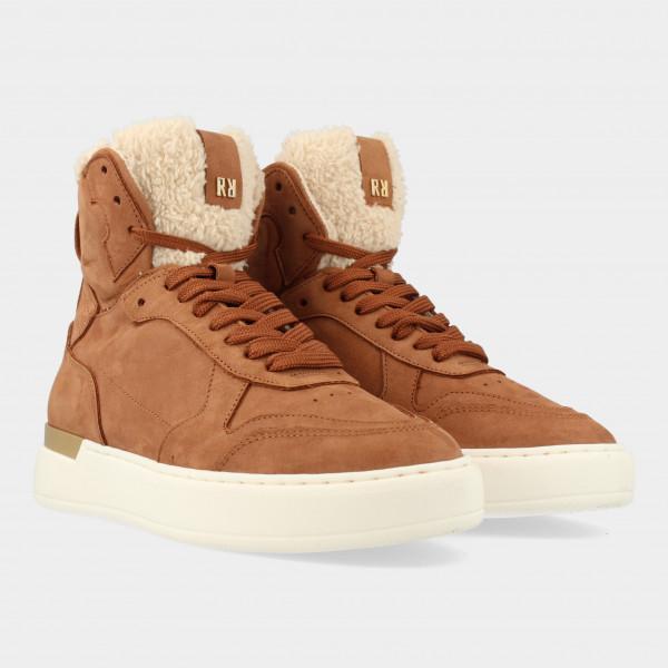 Hoge Cognac Sneakers | Red-Rag 71272