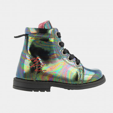 Holographic Biker Boots | Red-Rag 12002