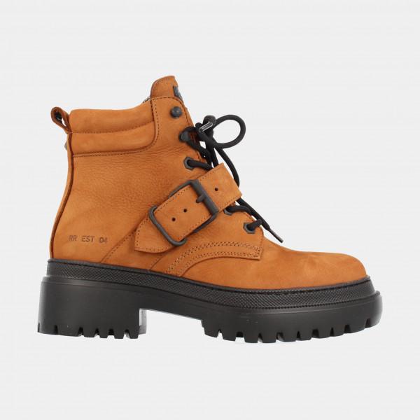 Cognac Biker Boots | Red-Rag 74352