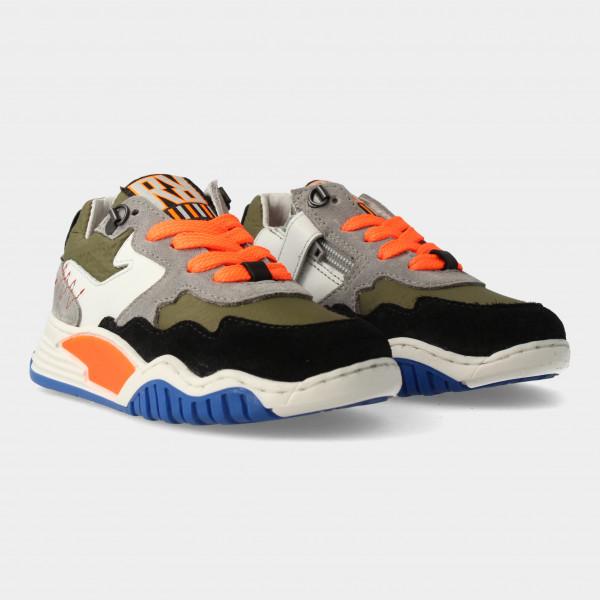 Groene Sneakers Met Rits   Red-Rag 13053
