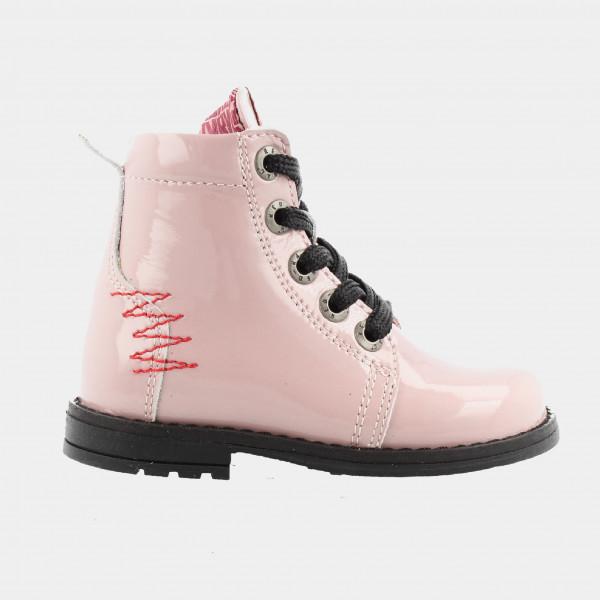 Roze Biker Boots Lak | Red-Rag 12002
