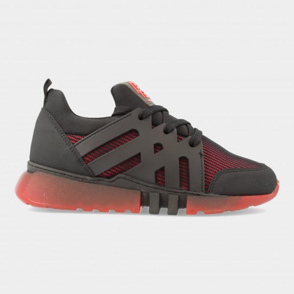 Zwarte Sneakers Met Rode Zool | Red-Rag 13557
