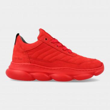 Rode Sneakers | Red-Rag 13541