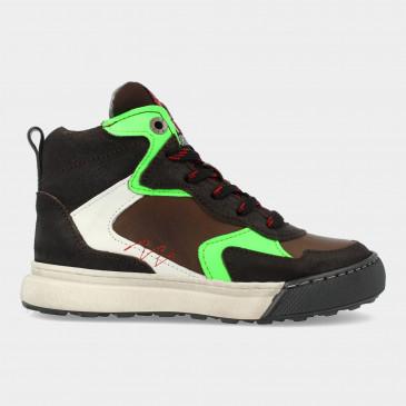 Hoge Groene Sneakers   Red-Rag 13501