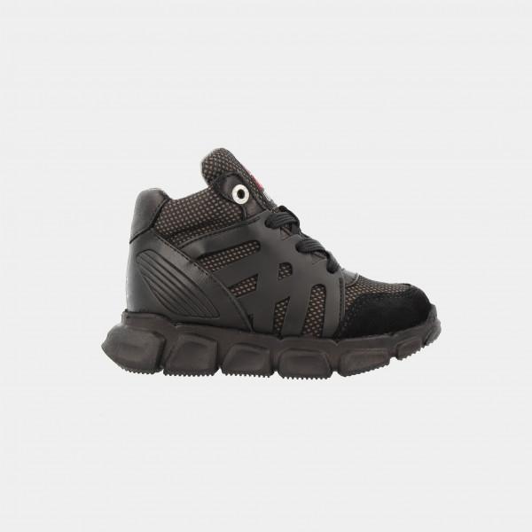 Hoge Zwarte Sneakers | Red-Rag 13159