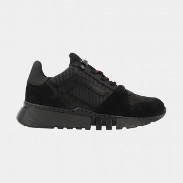 Zwarte Sneakers Laag   Red-Rag 13215