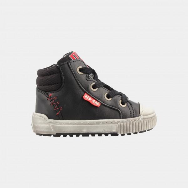 Hoge Zwarte Sneakers | Red-Rag 11007