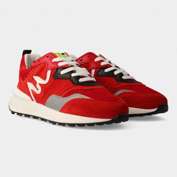 Rode Sneakers | Red-Rag 13109