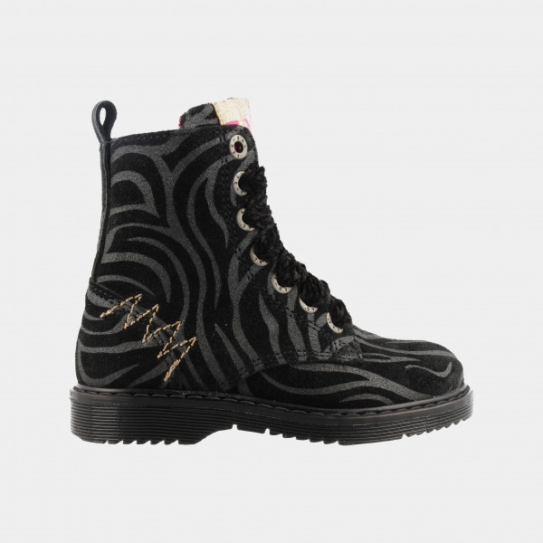 Zwarte Zebra Boots   Red-Rag 12182
