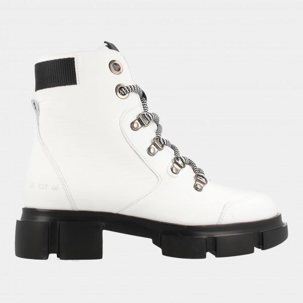 Witte Biker Boots | Red-Rag 76620