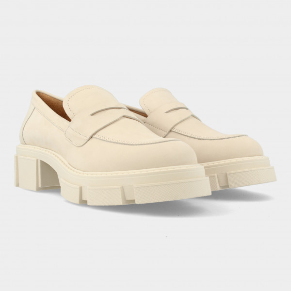 Beige Chunky Loafer | Red-Rag 78138