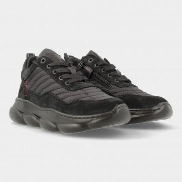 Zwarte Sneakers Met Rits   Red-Rag 13483