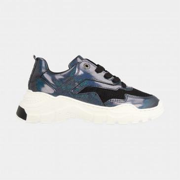 Glitter Sneakers Laag   Red-Rag 13076