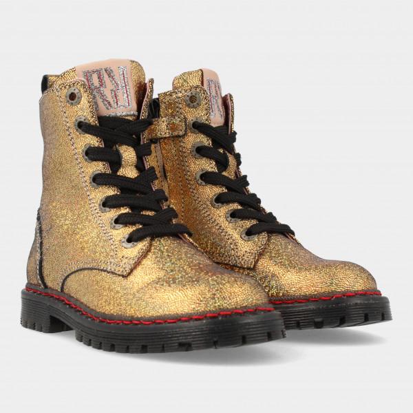 Gouden Biker Boots | Red-Rag 12268