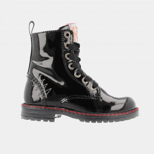 Zwarte Lak Boots | Red-Rag 12084