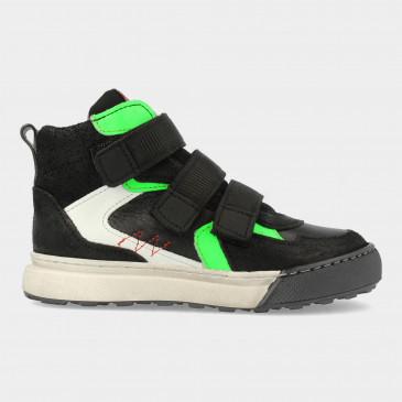 Hoge Zwarte Sneakers Met Klittenband   Red-Rag 13503