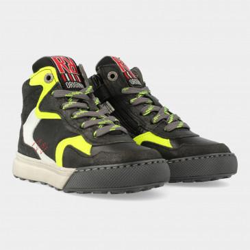 Hoge Zwarte Sneakers | Red-Rag 13501