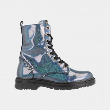 Blauwe Glitter Boots | Red-Rag 12106