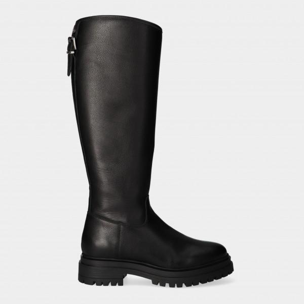 Hoge Zwarte Boots | Red-Rag 71242