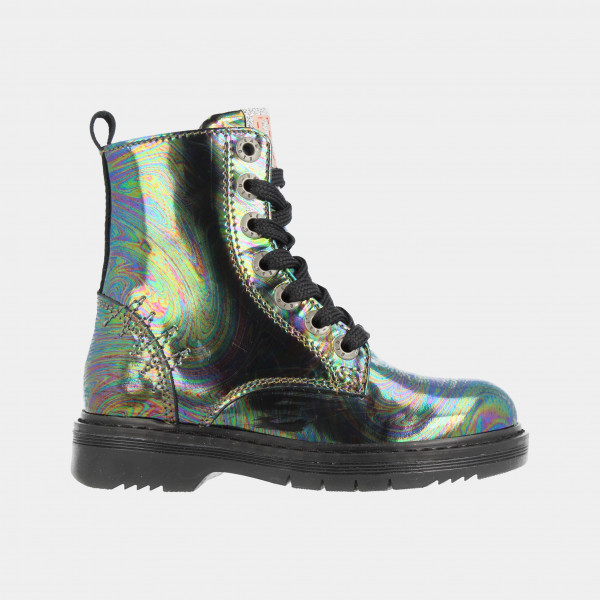 Zwarte Holographic Boots | Red-Rag 12034