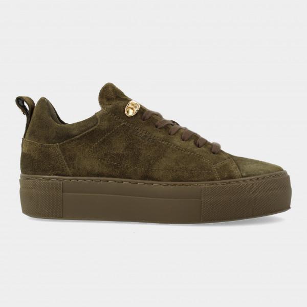 Groene Suede Sneakers   Red-Rag 74462