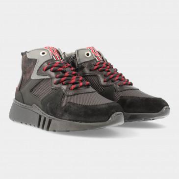 Hoge Zwarte Sneakers | Red-Rag 13529