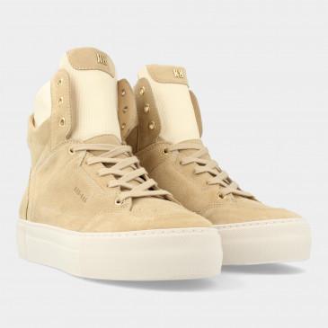 Hoge Beige Suede Sneakers   Red-Rag 74468
