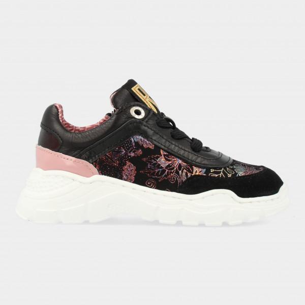 Zwarte Sneakers Met Print | Red-Rag 13126