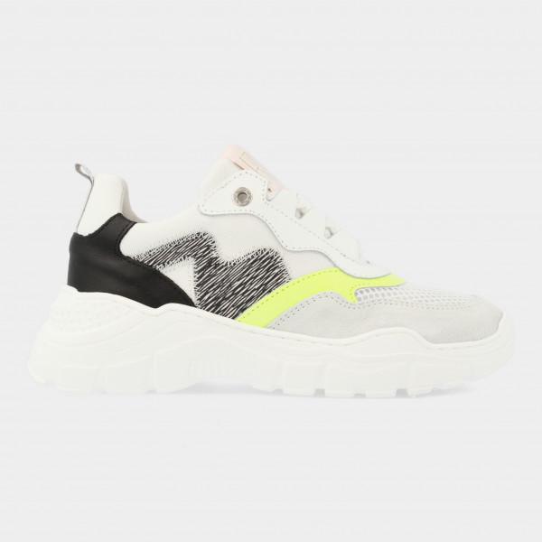 Witte Sneakers Met Zebra Print | Red-Rag 13042