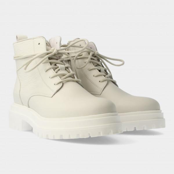 Witte Enkel Boots   Red-Rag 71130