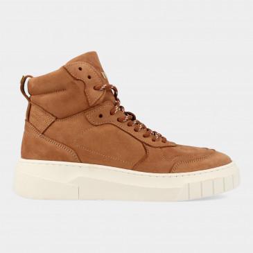 Hoge Cognac Sneakers | Red-Rag 71246