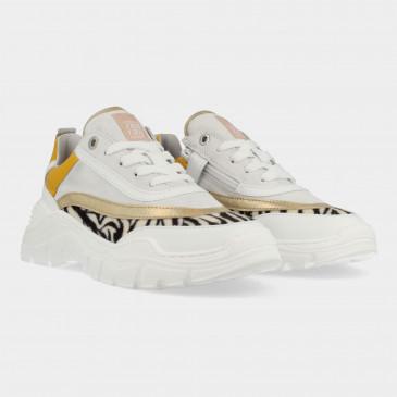 Witte Sneakers Met Zebra Print | Red-Rag 13262