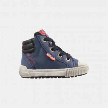 Hoge Blauwe Sneakers | Red-Rag 11007