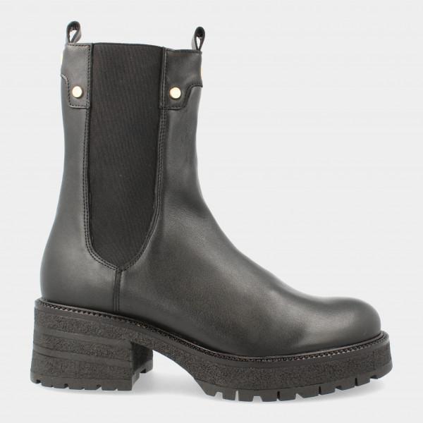 Hoge Zwarte Chelsea Boots   Red-Rag 74422