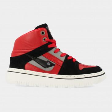Hoge Rode Sneakers   Red-Rag 13543