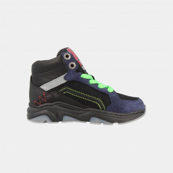 Hoge Zwarte Sneakers | Red-Rag 13171