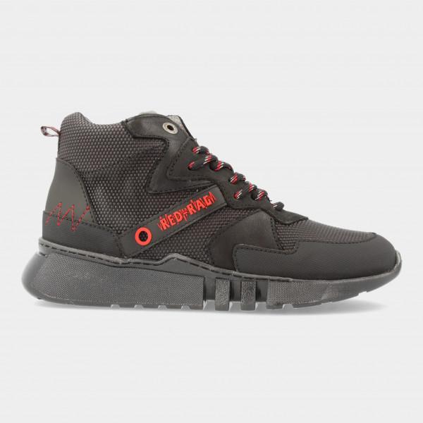 Hoge Zwarte Sneakers | Red-Rag 13521