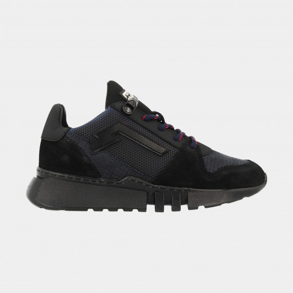 Zwart Blauwe Sneakers Laag   Red-Rag 13215