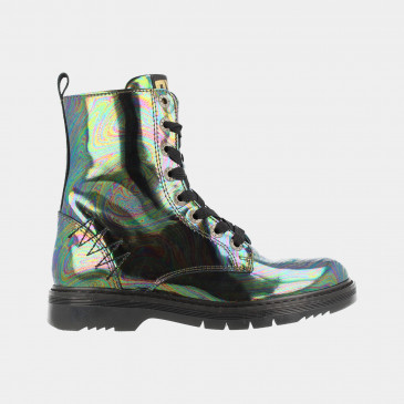 Zwarte Holographic Boots | Red-Rag 12106