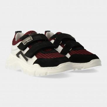 Rode Sneakers Met Klittenband   Red-Rag 13439