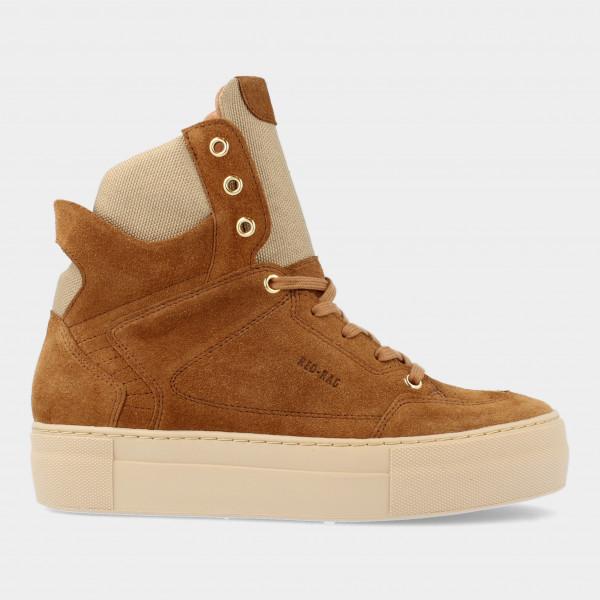 Hoge Cognac Suede Sneakers   Red-Rag 74468