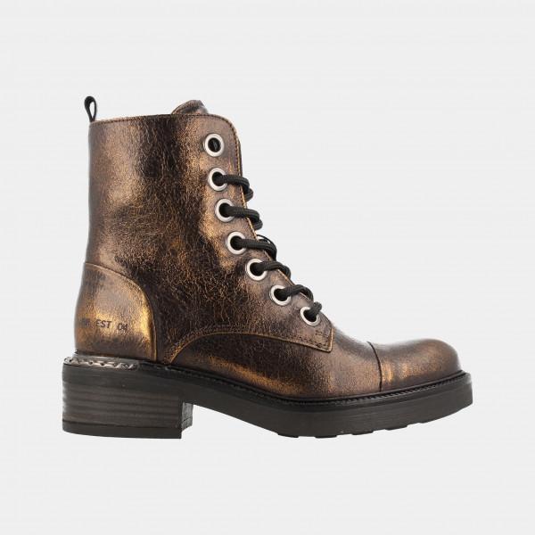 Zwart Gouden Biker Boots   Red-Rag 71174
