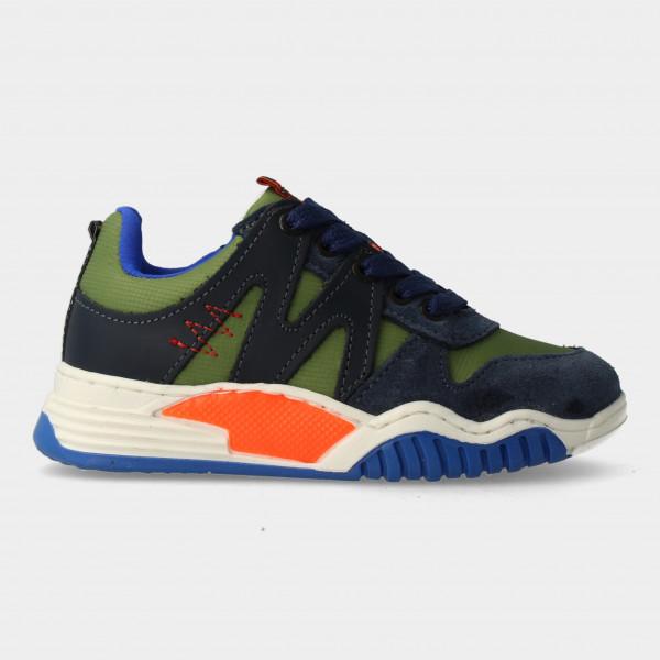 Groene Sneakers Met Rits   Red-Rag 13433