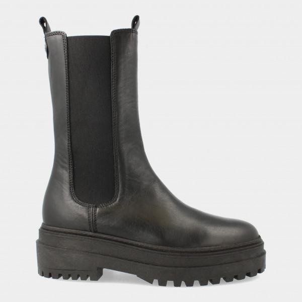 Hoge Zwarte Chelsea Boots   Red-Rag 74436